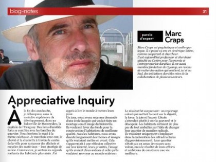 Parole d'expert. Appreciative Inquiry